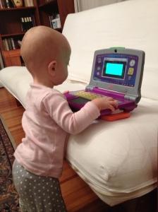 Emma on computer1 10-4-13