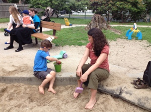 Jacob & Aunt Elaine at the Playground